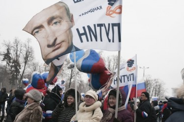 A rally in support of PM Vladimir Putin took place in Moscow on Feb. 23, ahead of the presidential election on March 4. Photo by Irina Firsova, copyright © Demotix (23/02/12).
