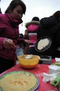 Pancake week/Maslenitsa celebration in St. Petersburg. Photo by YURY GOLDENSHTEYN, copyright © Demotix (26/02/12).