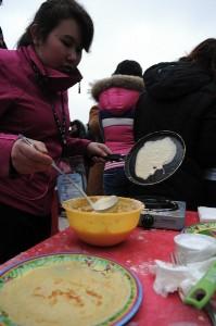 Pancake week/Maslenitsa celebration in St. Petersburg. Photo by YURY GOLDENSHTEYN, copyright © Demotix (26/02/12).