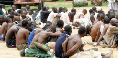 Boko Haram recruits arrested by police forces in Biafra. Photo posted to yfrog by @tianmine