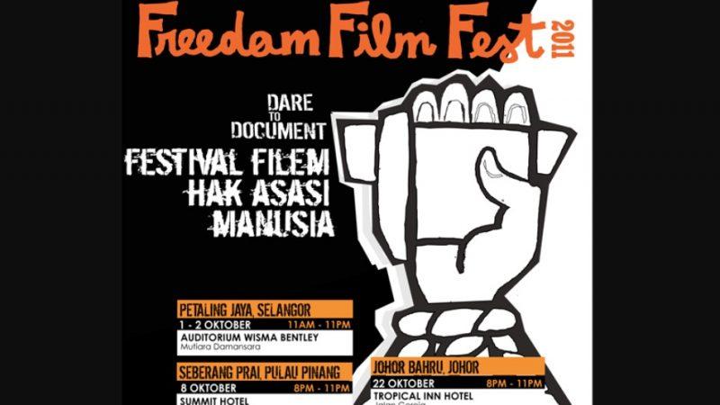 Freedom Film Festival 2011 poster.