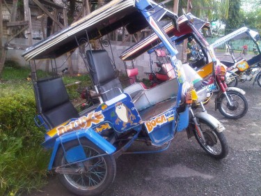 Engineered trike to adopt to the hilly terrain of Pagadian, Philippines. Photo by author