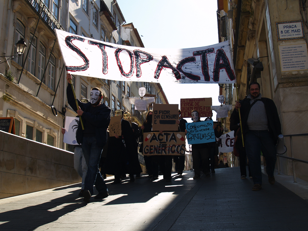 Protest in Coimbra. Photo sent anonymously (used with permission).