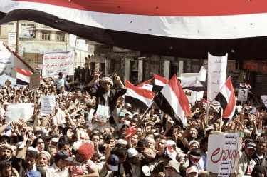 Thousands of Yemenis have been protesting for a year