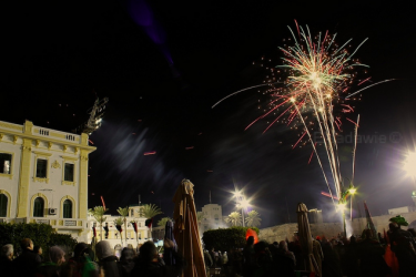 Fireworks in the skies of Tripoli to mark the revolution anniversary