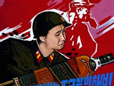 north korea soldier parody image