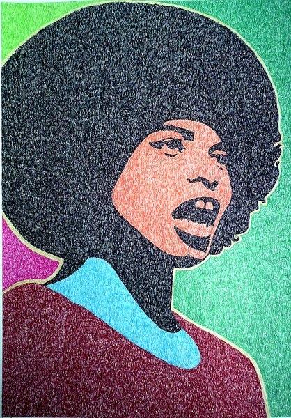Exposição Afrofilisminogravura de Ayam U'Brais. Imagem partilhada pela Secretaria da Cultura do Estado da Bahia no Flickr (CC BY-NC-SA 2.0)
