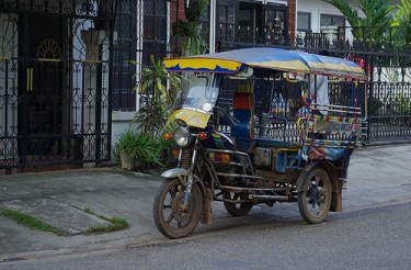 Tuktuk in Laos. Photo from Flickr page of Luluk used under CC License