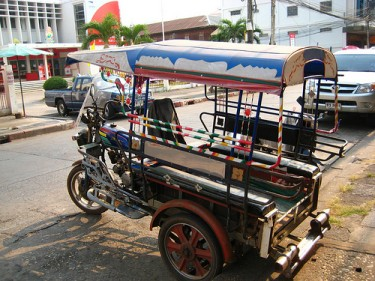 Tuktuk in Thailand. Photo from Flickr page of Blue Funnies used under CC License/