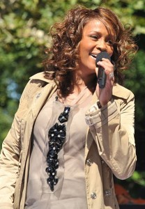 Singer Whitney Houston performing on Good Morning America, 2009. Image by Flickr user asterix611 (CC BY-SA 2.0).