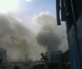 De tweede explosie in Brazzaville, foto van BaaRbieCaRteR op Twitter