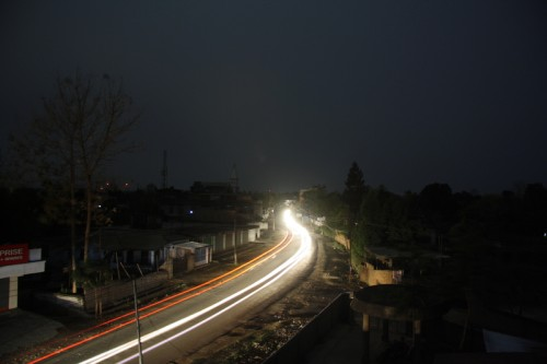 A view of an Earth Hour in Dimapur, Northeastern State of India. Power Department of Nagaland, shut down power supplies to celebrate Earth Hour. Image by Sorei Mahong. Copyright Demotix (27/3/2010))