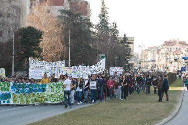 March for Peace on Ilinden Boulevard. Photo: Vančo Džambaski (CC BY-NC-SA 2.0)