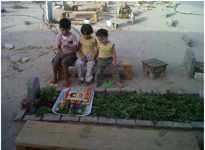 Children of AbdulRidha Buhamid who was killed by army on Feb 18, 2011. No investigation in his case and no compensation to his family. Photo credit: Bahrain Human Rights Centre