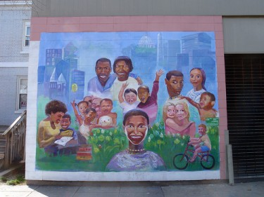 Diversity mural in Washington DC