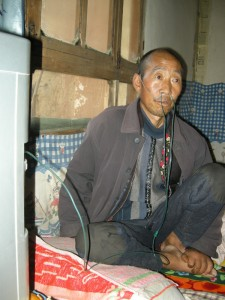 A pneumoconiosis patient in Gansu. Photo taken from Li Keqin's blog.