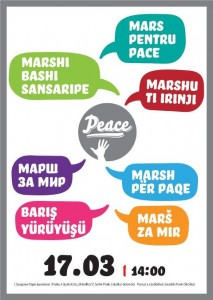 March for Peace poster by Nebojsha Galevski - Bane. Published with intend to be shared and republished.
