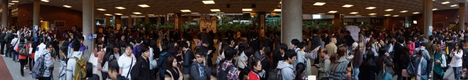 Polling station at Poly University on March 24. From Facebook Page: Civic Referendum