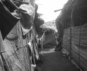 Tents at the Refugee Camp