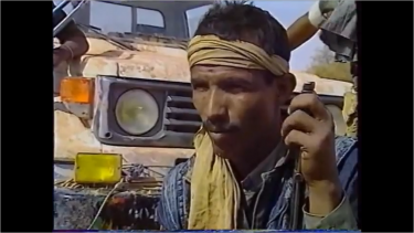 Screen shot of a Tuareg rebel via Azawad17Janv2012