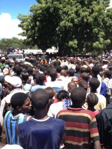 More than 30,000 people gathered to pay their last respects. Photo courtesy of @BongoCelebrity.