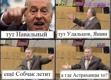 Zhirinovsky Duma meme. (14/4/2012) An anonymous image widely circulated online.