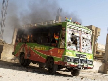 The Hazara members were travelling by bus before the shooting attack occurred in Quetta. Image by RFE/RL RFE/RL, copyright Demotix (04/10/12).