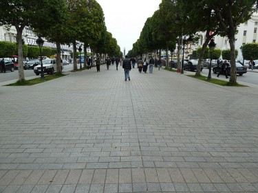 Habib Bourguiba Avenue. Image by Flickr user Tab59 (CC BY-SA 2.0).
