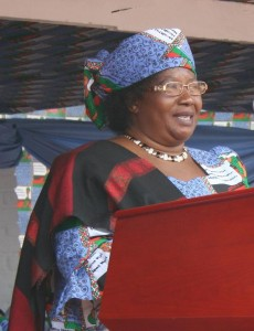 Malawi's first female President Joyce Banda. Photo source: Friends of Joyce Banda Facebook page.