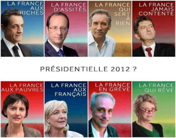 Десетте кандидата за президент, с пародии на техните официални афиши