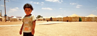 Life at the Qatar Refugee Camp Tataouine. Image by Omar Havana, copyright Demotix (26,06,11).