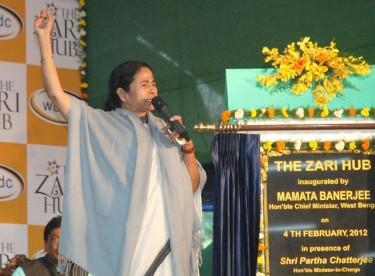 West Bengal Chief Minister Mamata Banarjee. Image by Dipyaman Sarkar. Copyright Demotix (04/02/12).