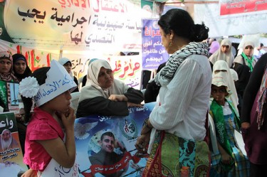 Ahdaf Soueif al sit-in di #PalHunger