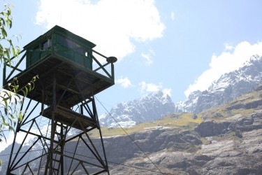 আফগানিস্তান লাগোয়া তাজিকিস্তানের দক্ষিণের একটি সীমান্ত চৌকি।