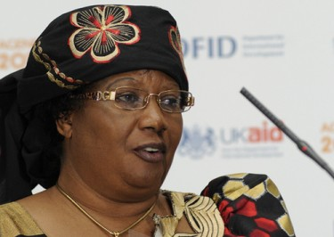 Joyce Banda speaking at the DFID conference in 2010. Photo shared on Flickr by DFID under Creative Commons (CC BY-NC-ND 2.0).