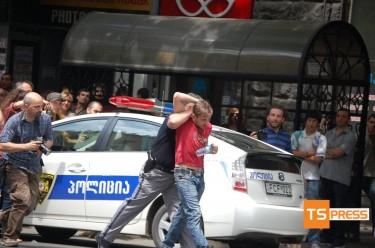 Marcia LGBT a Tbilisi. Foto di TSpress.ge