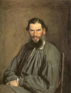 クラムスコイ作、トルストイの肖像画(1873)、パブリックドメイン