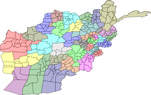 A map of Afghanistan's provinces and regions. Could a federal system hold them all together? From Wikimedia (CC BY-SA 3.0)