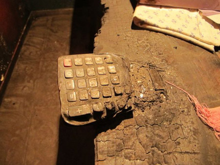 Calculator melted into bar, D.I.Y., Yerevan, Armenia © Nairi Hakhverdi