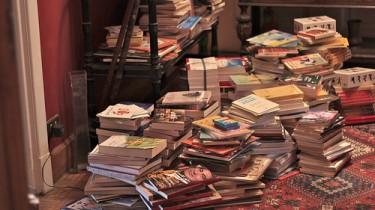 Libri donati al Palfest di Gaza. Immagine tratta da PalFest su Flickr (CC BY-NC-SA 2.0)
