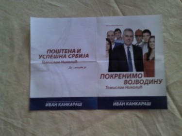 A campaign flyer during the pre-electoral silence period. Image from user Zoltan Dognar on Twitter