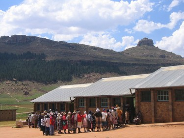 Voters during Lesotho elections in 2007. Photo courtesy of GNDEM's Flickr page