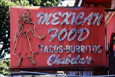 Mexican food sign in San Francisco
