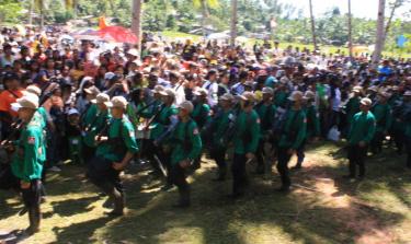 الاحتفال بالذكرى السنوية 42 للحزب الشيوعي في شمال شرق منطقة مندناو. الصورة من موقع الثورة الفلبينية.