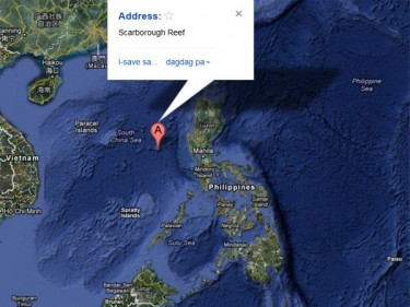 Filipino netizens shared this Google Map of Scarborough Shoal to highlight its proximity to the Philippines