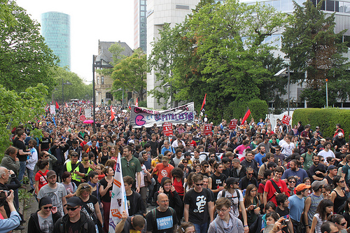 Blockupy demo (May 19, 2012). Photo by strassenstriche.net on Flickr (CC BY-NC 2.0).