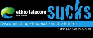 Logo del grupo de Facebook Ethio Telecom Sucks. Foto de la página del grupo en Facebook.