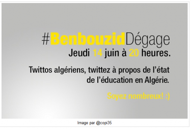 Invitation to #BenbouzidDégage