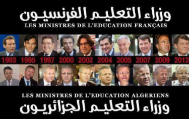 Ministers of Education in France and in Algeria