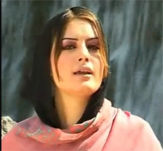 "Ghazala Javed singing a Pashto song. Image taken from <a href=""http://www.youtube.com/watch?v=zTN6uDrGJio"">a Youtube video</a>."